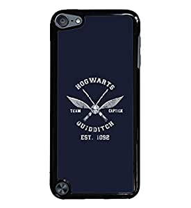 Quidditch Hogwarts Team Captain Black Hardshell Case for iPod Touch 5G iTouch 5th Generation