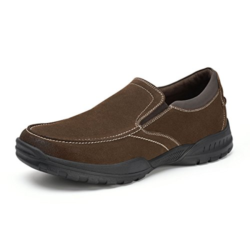 Men's Slip On Walking Shoes Suede Leather Loafers Slip Resistant Casual Shoes Comfort Fit Brown 11 - Suede Loafers Shoes