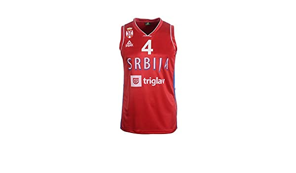 Peak Sport Europe Hombre Milos Teodosic Camiseta, Rojo, XL ...
