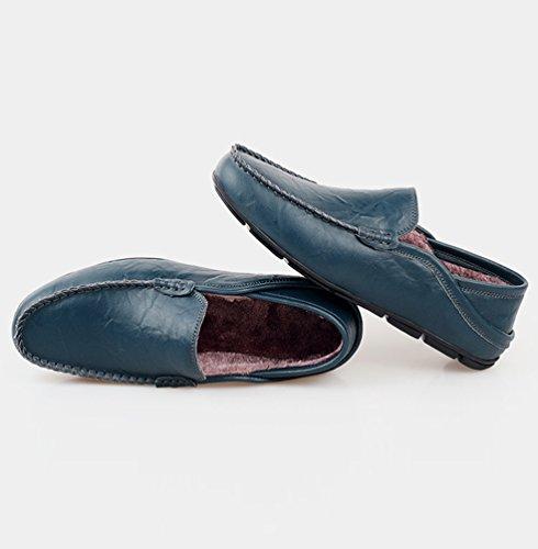 Uomo Mocassini Foderato Blu Moda caldo Elegante Dooxi Casuale Durevole Piatto Scarpe Scarpe RwCqqgd