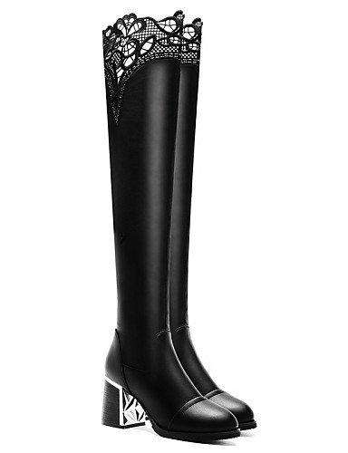 La Zapatos Sintético 5 Negro Fiesta Black Eu39 Mujer Xzz 5 Y De Robusto A us7 Moto 5 Cn38 Cn40 Uk5 Black Noche Tacón Uk6 Vestido 5 us8 Moda Botas Eu38 Casual 0xZdq