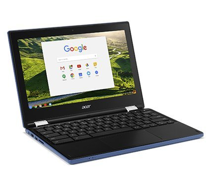 Newest Acer Convertible Chromebook 11.6in HD IPS Touchscreen, Intel Celeron N3060 1.6 GHz, 4GB Ram 32GB SSD, Intel HD Graphics, HDMI, WiFi, Webcam, Chrome OS- BLUE COLOR (Renewed)