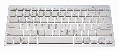 NewVan Tech Ultra-Slim Bluetooth Keyboard Slim Portable Bluetooth Wireless Keyboard for iPad Air, iPad Mini, iPad Mini 2, iPad 2 / 3 / 4, Galaxy Tab, and other Tablets (Ipad Air 2 Vs Galaxy Tab A 10-1)
