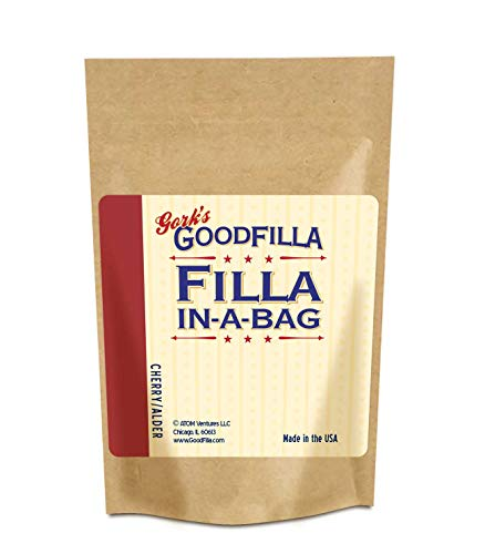 Wood Filler & Putty Powder - Innovative Formula - Filla-In-A-Bag - Cherry - 12 oz By Goodfilla | Repairs, Finishes & Patches | Paintable, Stainable, Sandable & Quick Drying | Zero Waste