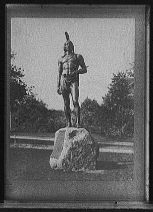 INFINITE PHOTOGRAPHS Photo: Sculpture,Statues,Massasoit,Wampanoag Indian Chief,Plymouth,Massachusetts,1921