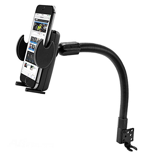 41-Kb3a84ML Robust Car Mount Seat Bolt Holder for Oppo F7 A1 A71 R15 w/ Anti-Vibration Quick Release Swivel Cradle Mount.