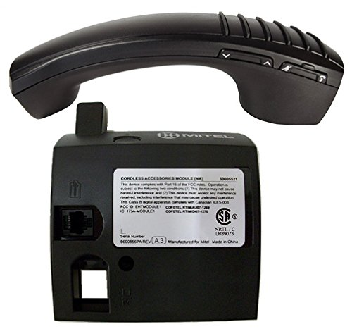 Mitel Cordless Handset and DECT Module Bundle, #50005711 | Mitel 5330e, 5340e and 5360e phones | Includes all accessories by Mitel