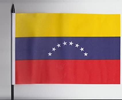 Venezuela bandera de mano Tamaño Mediano 23 cm x 15 cm