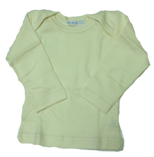 ic Cotton Long Sleeve Tee 6 Months Lemon Yellow (Organic Lap Shoulder Tee)