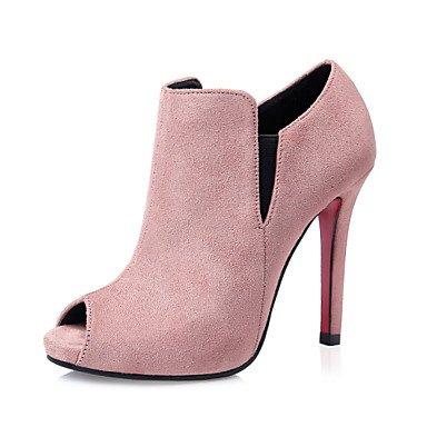 Eik Donna Scarpe Heels Di High Pelle Abito Scamosciata Da rBrq6