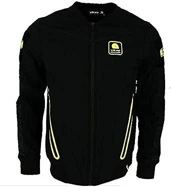 Valentino Rossi Vr46 Riders Academy-Camiseta de Manga Corta para Hombre, Color Amarillo Claro, Talla M