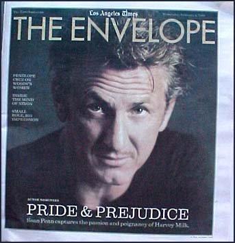 The Envelope Sean Penn Cover for Harvey Milk 2009 Academy Awards