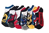 Transformers Kids Low Cut Socks, Fits Sock Sizes 6-8, Assorted Color Themes, 6 Pack, 7188mh-black