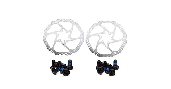 HS1 VORCOOL 2 Juego de Freno de Disco mec/ánico para Bicicleta de 160 mm Disco de Freno Trasero con 6 Tornillos para Bicicleta de monta/ña