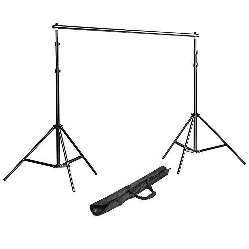 Neewer Background Stand Backdrop Support System Kit 7 Feet/200CM by 7 Feet/200 cm Wide with Portable Carrying Bag for Video, Portrait, and Product Photography -