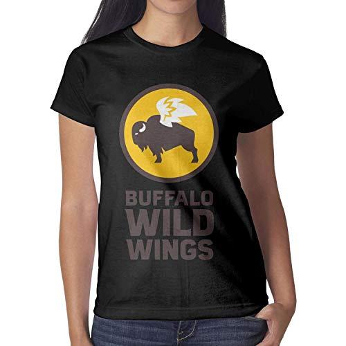 Women Buffalo Wild Wings t-Shirt Short-Sleeve Cotton ()