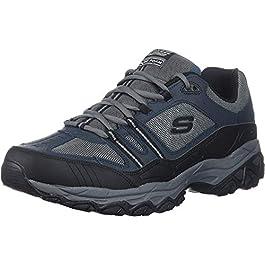 Skechers  Men's After Burn Memory Fit – Strike Off Lace-Up Sneaker