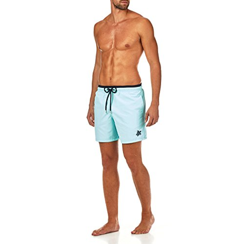 Vilebrequin Solid Bicolor Swim shorts - Men - lagoon - XL by Vilebrequin