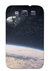 For Galaxy Case, High Quality Outer Space Moon Earth Disasters For Galaxy S3 Cover Cases / Nice Case For Lovers' Gifts