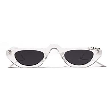 8bf870db873d5 Image Unavailable. Image not available for. Color  ZLYZ Sunglasses Vintage  90S Cat Eye Sunglasses Women Men Sunglass Retro Flat Top Small Sun Glasses