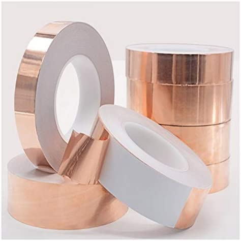Copper Foil Tape Strip Adhesive Shielding Heat Resist Single Side Conductive