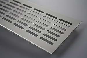 Aluminio Lüftungsgitter Tamiz De Ventilación Placa Puente Acero inox anodizado 100x800mm