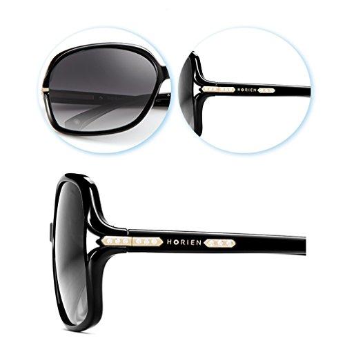 polarisées Grandes lunettes lunettes cadre soleil dames Red de Y7rfYwBq