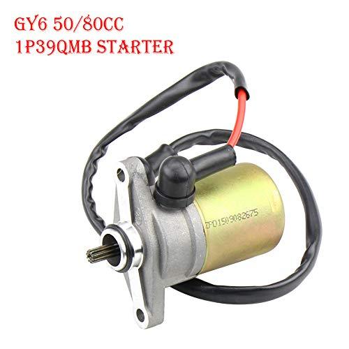 Ocamo Motor de Arranque Scooter Ciclomotor GY6 47 49 50CC para TaoTao Sunl Roketa Chino