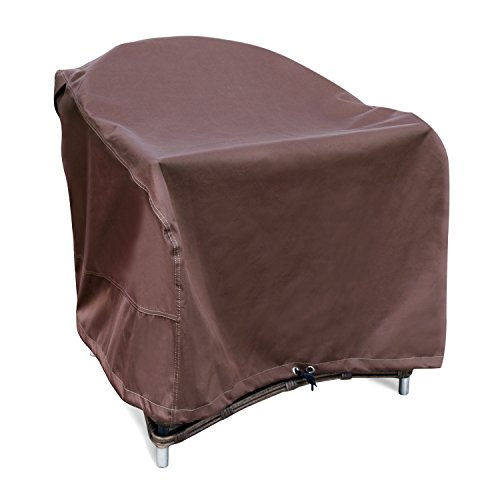 Leader Accessories 600D PVC Heavy Duty Patio Chair Cover Standard Backrest with Durable and 100% Waterproof Fabric Size L 33'' W x 33'' D x 30'' H by Leader Accessories