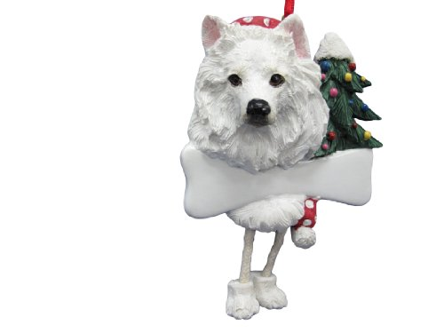 - American Eskimo Ornament with Unique