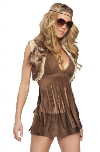 [J. Valentine Women's Groovy Baby Costume, Brown, Small/Medium] (Edc Costumes Men)