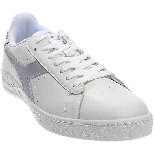 Galleon - Diadora Unisex Game L Low Waxed White Gray Violet White 11  Women 9.5 Men M US ad4ba81724e