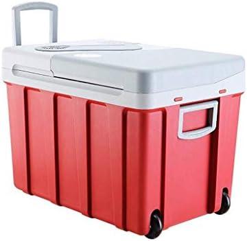 LFSPミニ冷蔵庫 330ミリリットル缶を収容することができる-40L冷凍車ポータブル小型冷蔵庫60(赤)