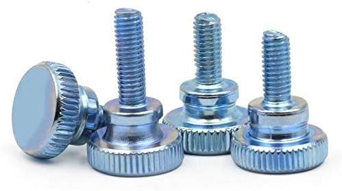 5PCS YJZG 5//10pcs Din464 Gb834 M3 M4 M5 Knurling Head Knurled Thumb Screw Hand Tighten Curtain Wall Lock Screws Length : 8mm, Size : M5