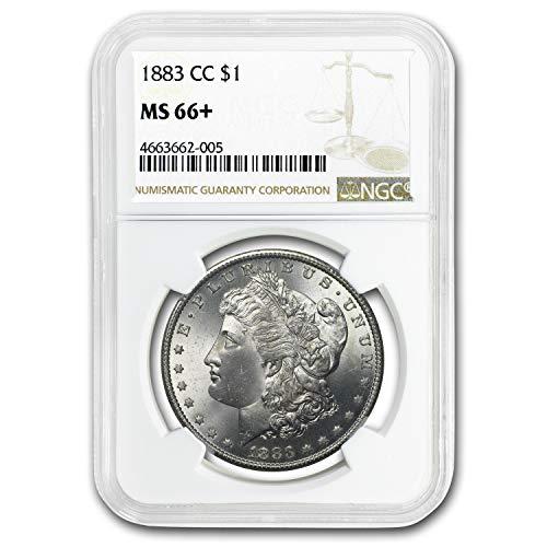 1883 CC Morgan Dollar MS-66+ NGC $1 MS-66 NGC