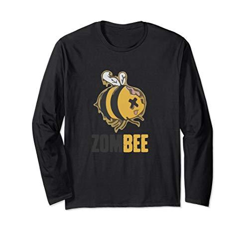 Zom Bee Long Sleeve Shirt Funny Zombie Bee Halloween Tee - Sleeve Funny Zombies Long