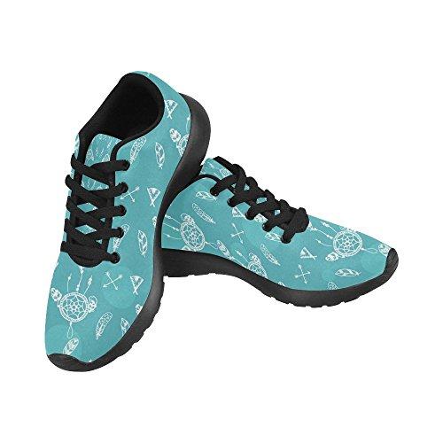 Zenzzle - Zapatillas de Running de Lona para Mujer Negro Negro