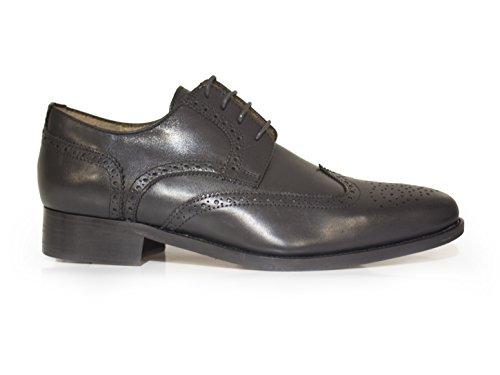 J.Bradford Zapatos Hombre De Vestir Richelieu Cuero Negro JB-Baurent