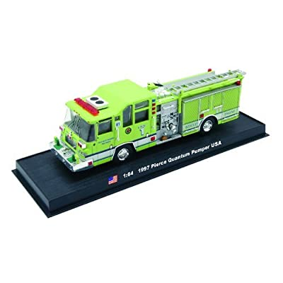 Pierce Quantum Pumper Fire Truck Diecast 1:64 Model (Amercom GB-8): Toys & Games