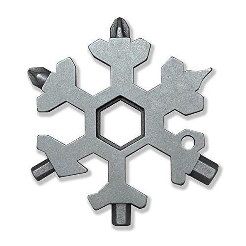 Amenitee 15-in-1 Stainless Multi-tool - Snowboarding Multi-tool- Standard, Stainless Steel