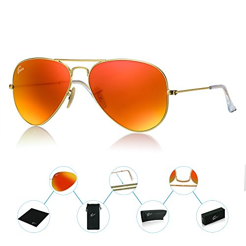 ESPIRO Premium Aviator Sunglasses For Men Women Flash Mirror Lens UV400 - In India Sunglasses Best
