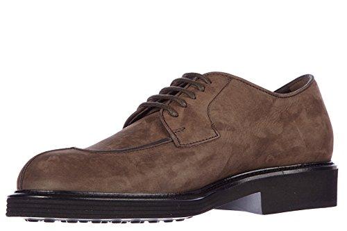 Tod's scarpe stringate classiche uomo in pelle nuove derby norvegese marrone