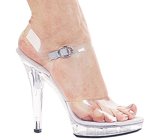 Ellie Shoes Women's M-Brook Clear Platform Sandal, 7 B(M) US