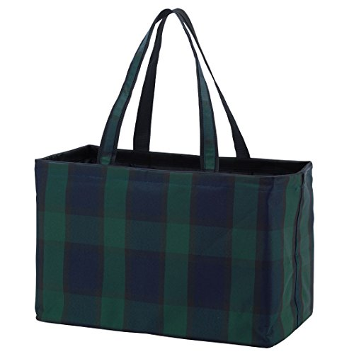 Navy Plaid Ultimate Tailgate Tote - Monogrammed or Blank (Plaid Tailgate)