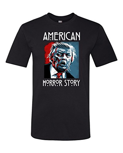 Donald Trump is an American Horror Story Unisex T-Shirt Large Black (Horror Tshirts)