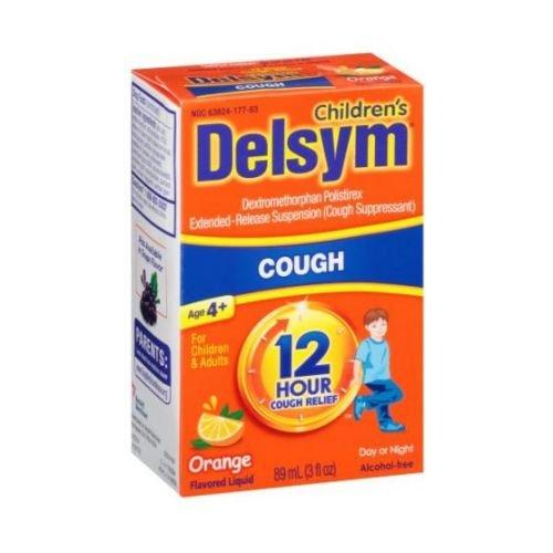 Delsym Orange Extended Release Suppressant 12 Hour Cough Relief Liquid, 3 Fluid Ounce -- 12 per case.