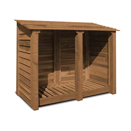 COTTESMORE 4FT LOG STORE/GARDEN STORAGE, BROWN, HEAVY DUTY, HAND MADE, PRESSURE TREATED. RCGF07