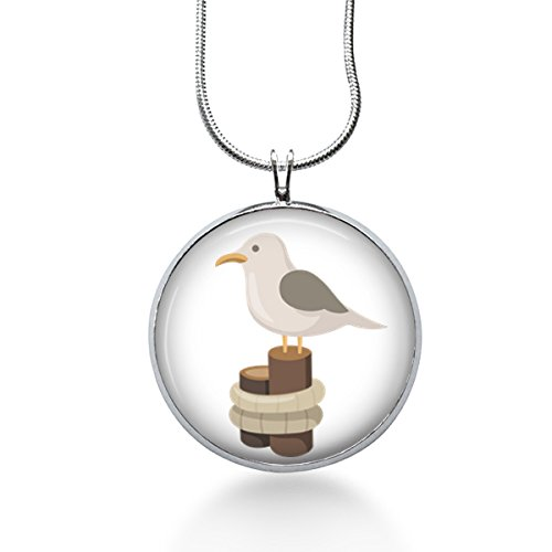 Seagull necklaces kritters in the mailbox seagull necklace seagull necklace summer jewelry beach pendant gifts for her mozeypictures Gallery