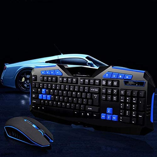 ZHOUMOJP Gaming Wireless 2.4G Keyboard and Mouse Set Gamer Mice for PC Laptop Computer Mouse