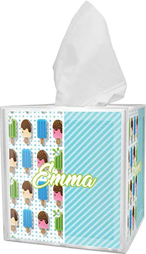 (RNK Shops Popsicles and Polka Dots Tissue Box Cover (Personalized))